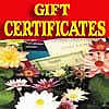 Gift Certificates via Email or Mailed