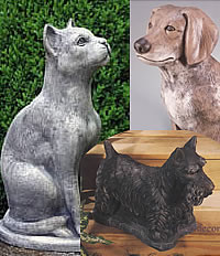 Cat & Dog Statues