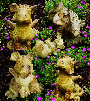 Whimsical Dragon Garden Statues