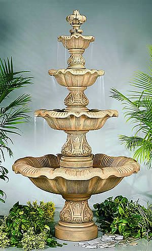 4-Tiered Renaissance Fountain
