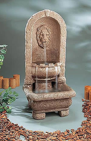Elegant Lion Floor Fountain