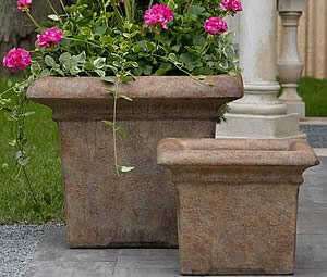 Large Antiqued Planter