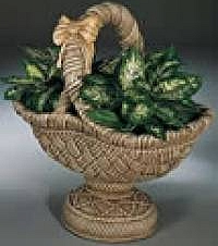 Pedestal Basket Planter