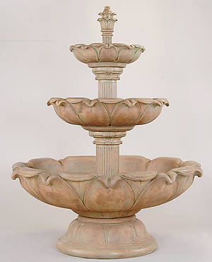 Acquarossa Short 3-Tiered Fountain
