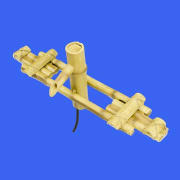 Adjustable Pouring Bamboo Fountain with Pump