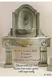 Anduze Wall Fountain Tall for Spout