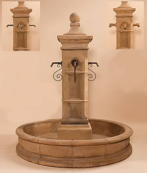 "Aquitaine Pond Fountain 70"" Pond for Spouts"