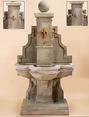 Arles Fountain for Rustic Iron Spouts