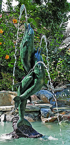 Entwined Dolphin Fountain