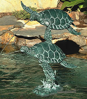 Sea Turtle Fountain Spitter