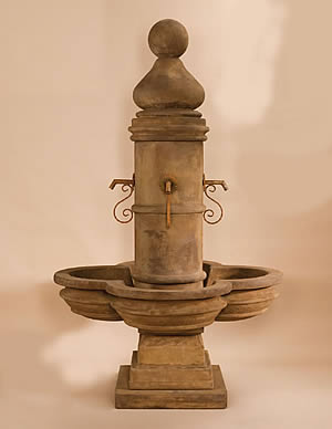 Short Beaumont Fountain Display for Rustic Iron Spouts