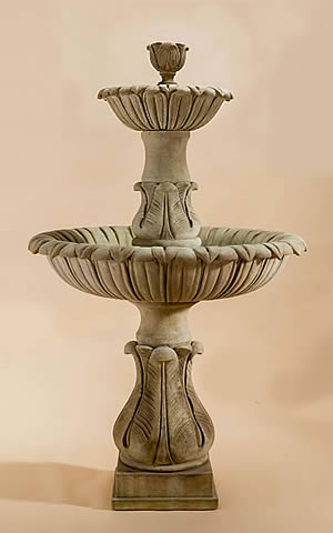 Calanthia 2-Tiered Fountain with Lotus Finial