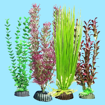 Aquarium 4 Plastic Wonder Plants - Multipack 103