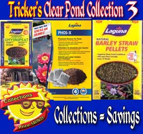 Clear Pond Collection 3 - Barley Straw, Phos-X , Pond Peat