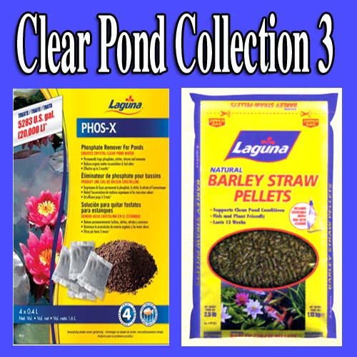 Clear Pond Collection 3 - Barley Straw, Phos-X