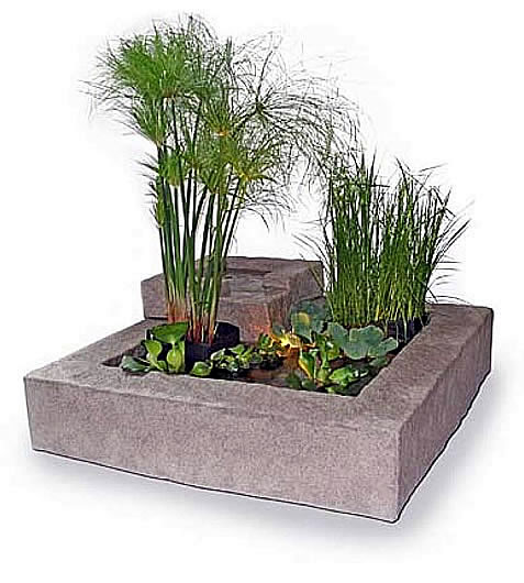 Deck Pond with Waterfall