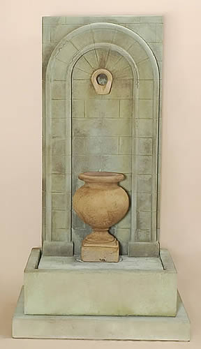 Short Etruria Urn Wall Fountain