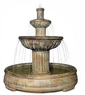 Fluted Fountain in Grando Pool