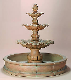 Garda 3-Tiered Pond Fountain