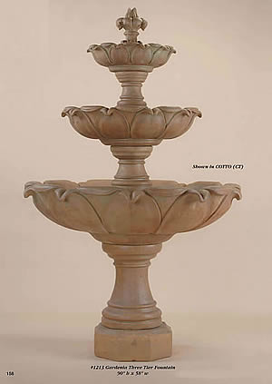 Gardenia 3-Tiered Fountain