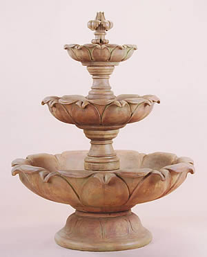 Short Gardenia 3-Tiered Fountain