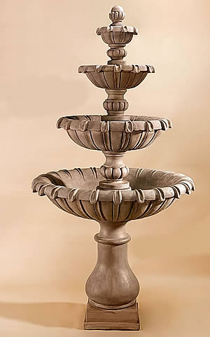 Grand Chateau 4-Tiered Fountain