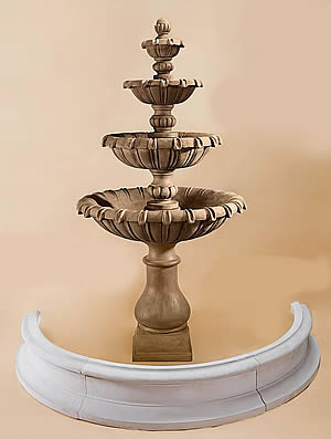 Grand Chateau 4-Tiered Fountain for Pond