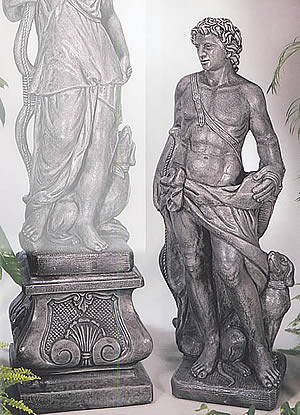 Apollo the Hunter (right) Statue