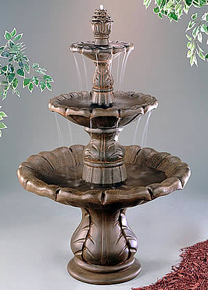 3-Tiered Classical Finial Water