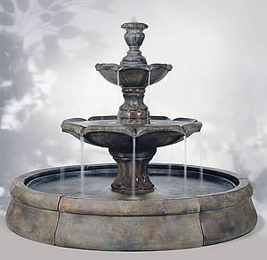 Finial Spill Fountain in Crested Pool