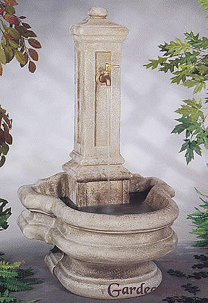 Garden Column Well Fountain