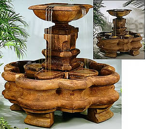 Classic Streaming Quatrefoil Fountain