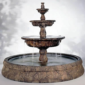 Triple Tazza Tiered Fountain in Europa Pool