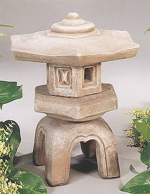 Hexagon Japanese Garden Lantern - 18""
