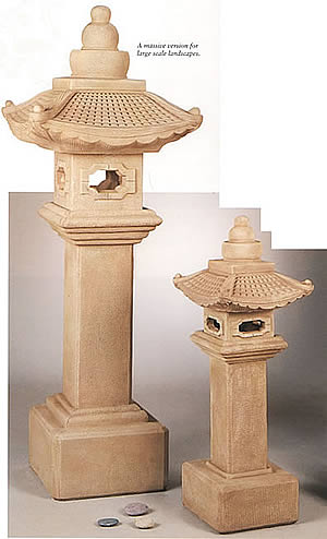 Great Oriental Pagoda Lantern on Pedestal