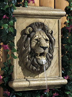 Lion's Head Wall Spitter, Cast stone