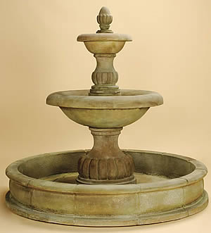 Isola 2-Tiered Pond Fountain
