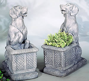 Labrador Dog Planter Statue