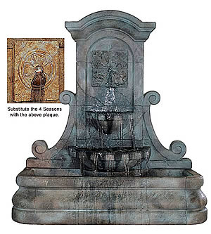 LaMura Rossette Flat Wall Fountain