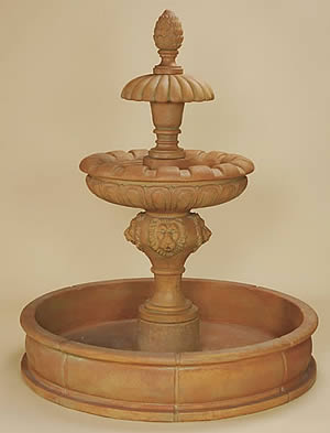 Laurent 2-Tiered Pond Fountain