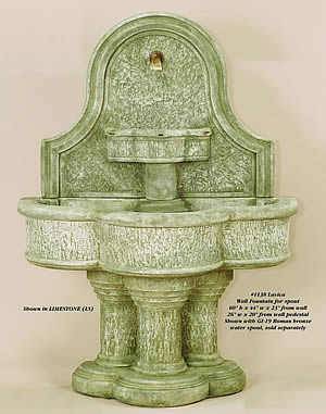 Lavica Wall Fountain For Spout
