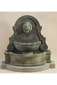 Liguria Lion Wall Fountain & Step (available & Legs)