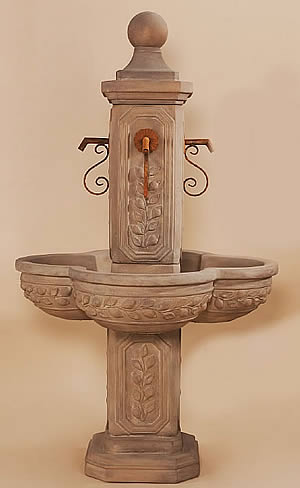 Limone Courtyard Fountain for Spouts