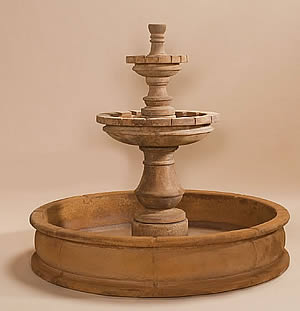 Montefalco 2-Tiered Pond Fountain