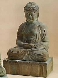 Large Buddha On Lotus Base