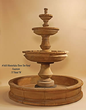 Montefalco 3-Tiered Pond Fountain