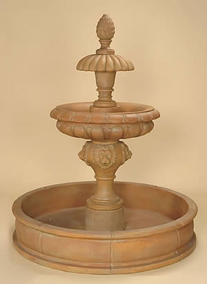 Piloni 2-Tiered Pond Fountain