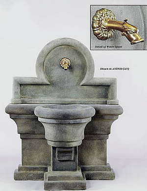 Porta Romana Wall Fountain For Spout