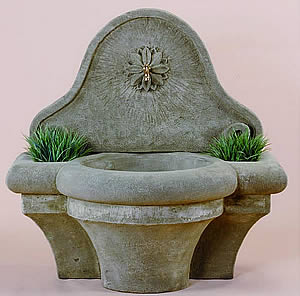 Provence Wall Fountain with Spout