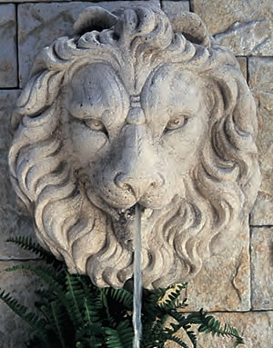 Regal Lion Head Fountain
